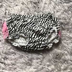Other - Zebra print ruffle diaper cover